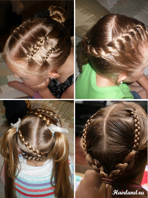 Детские прически для девочек на каждый день на длинные волосы
