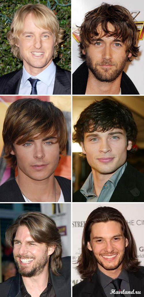 Мужские стильные стрижки на средние и удлинённые волосы