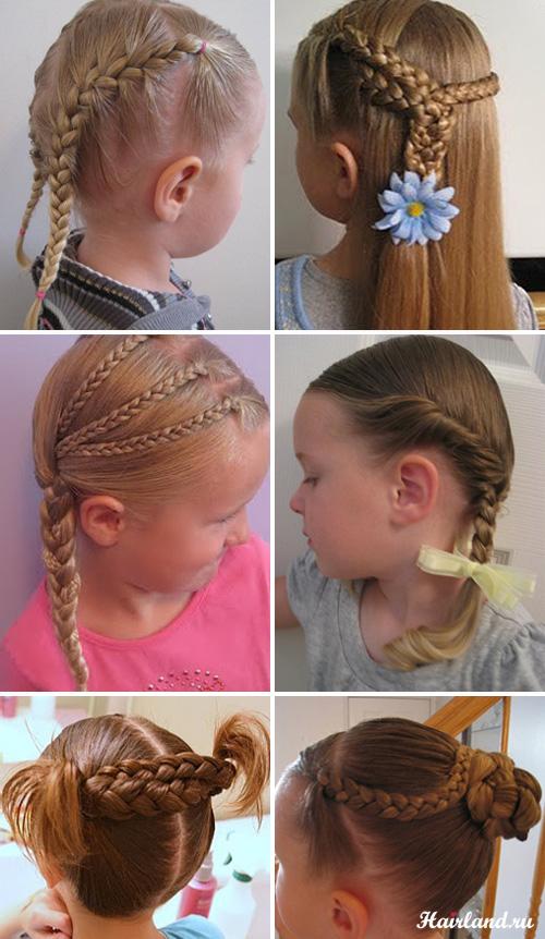 Детские прически из косичек для девочек фото