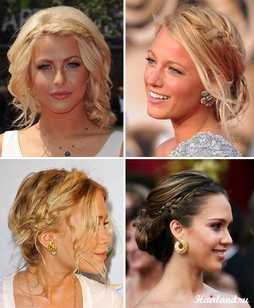 Выпускные прически на длинные волосы с косами