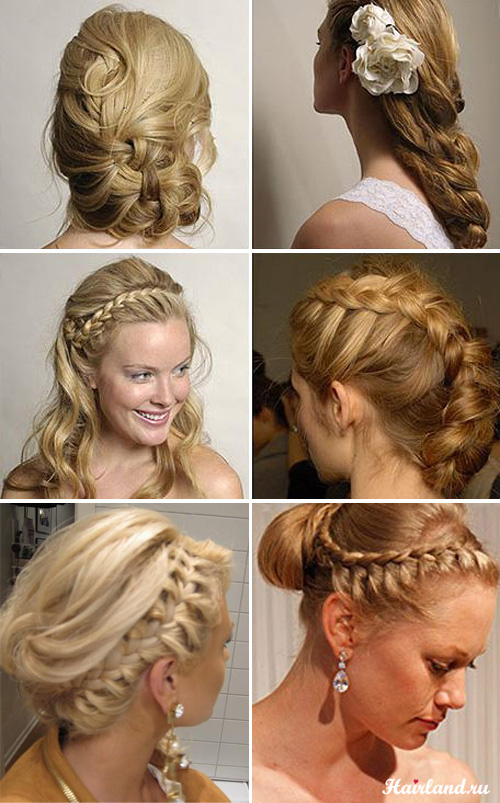 Свадебные прически с косами и колосками фото