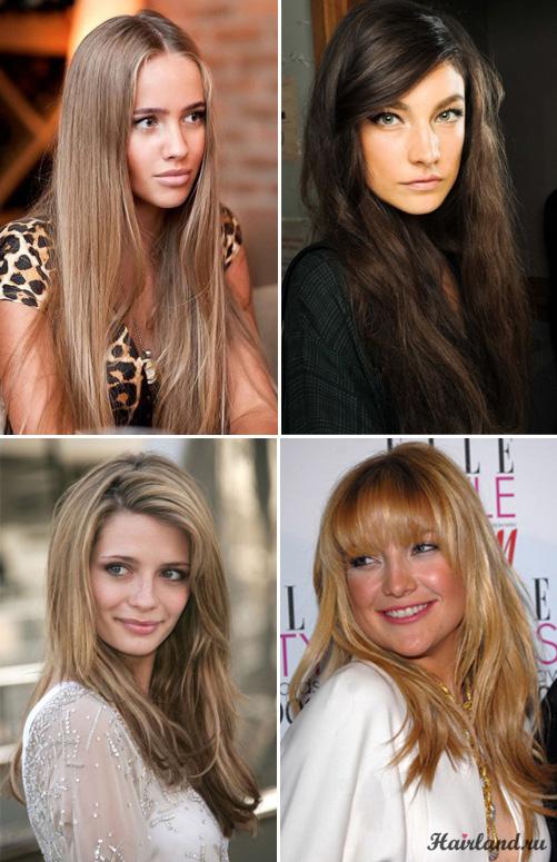 Женские стрижки на длинные волосы фото каскад и ровный срез
