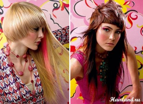 Ассиметричные женсике стрижки на длинные волосы