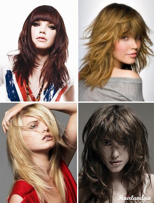 Каскадная стрижка на длинных волосах