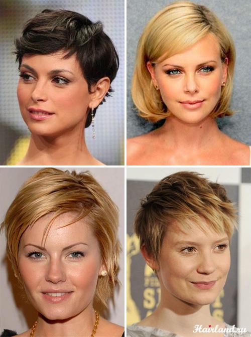 Короткие стрижки для тонких волос фото