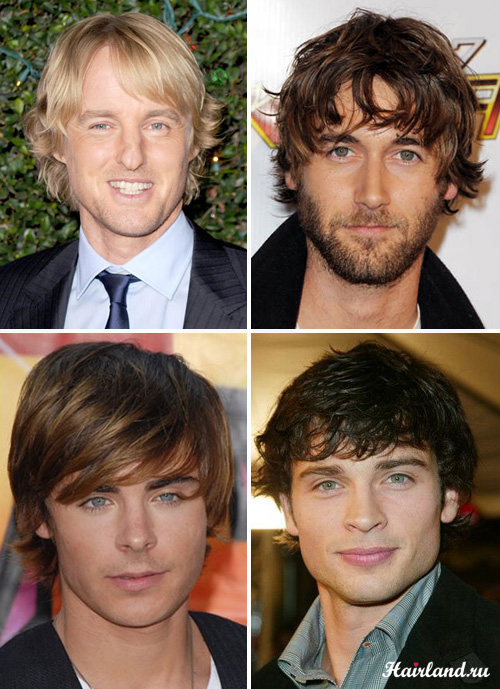 Молодежные мужские стрижки на средние волосы фото