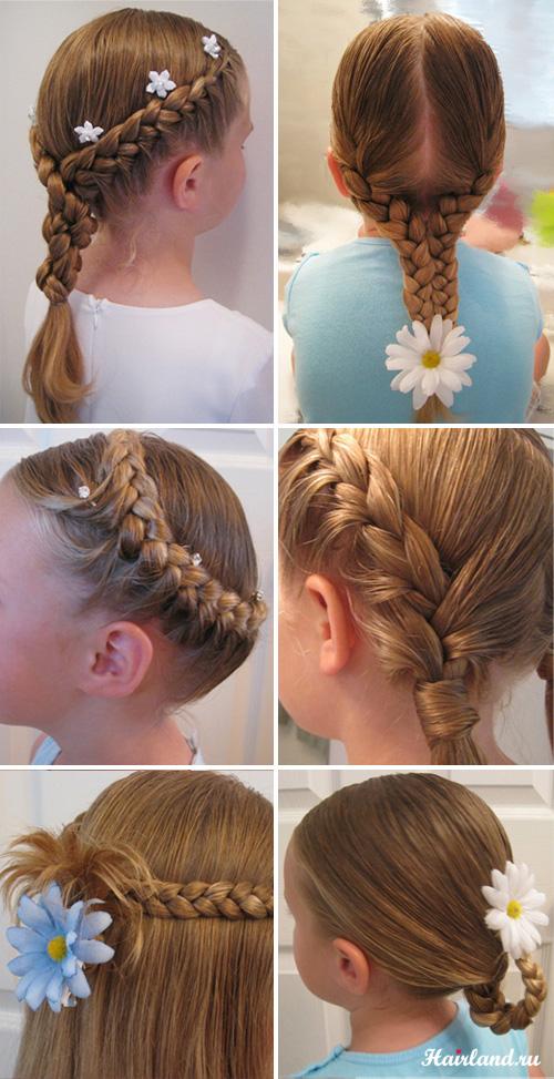 Причёски детские на каждый день своими руками фото