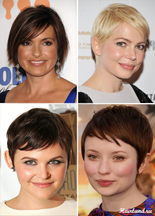 Прически с челкой для круглого лица для коротких волос фото