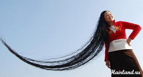 Самые длинные волосы в мире фото Ксие Квипинг