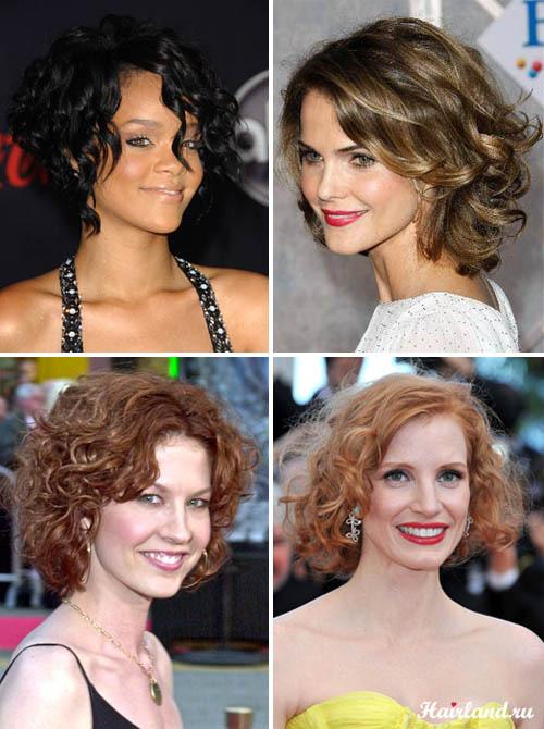 Стрижки для средних кудрявых волос фото
