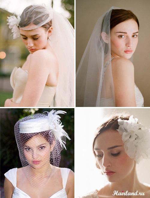 Прически на свадьбу с аксессуарами для волос фото