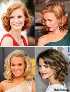 Женские прически на средние волосы фото, укладки средних волос