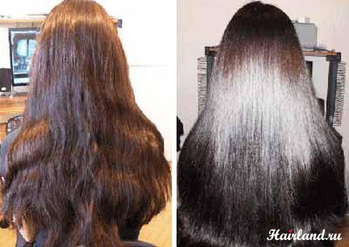 Биоламинирование волос в домашних условиях фото до и после