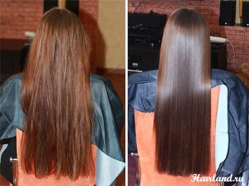 Биоламинирование волос в домашних условиях до и после фото