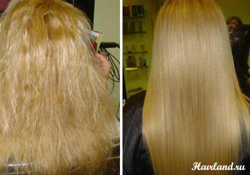 Домашнее биоламинирование волос фото до и после