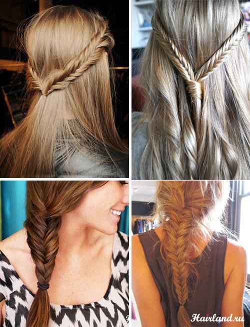 Модные прически с косами фото