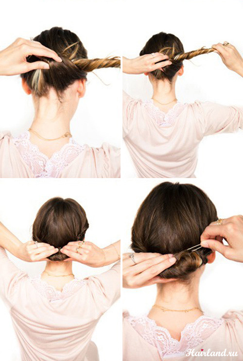 Деловые причёски своими руками