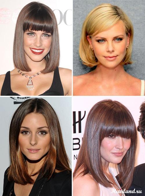 Стрижки для волос средней длины, боб и каре