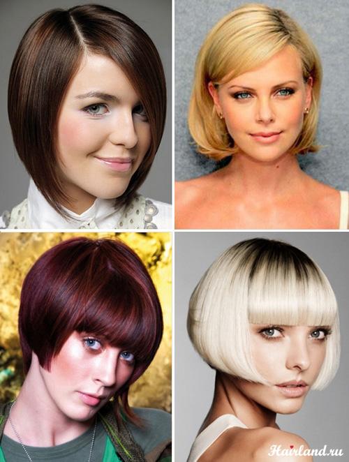Женские стрижки боб каре на средние волосы фото