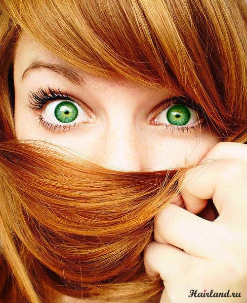 Рыжий цвет волос для зеленых глаз фото