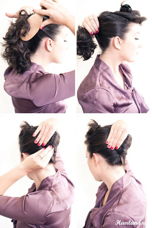 Как сделать красивую прическу на средние волосы самой