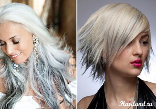 Колорирование светлых волос фото. Колорирование соль и перец