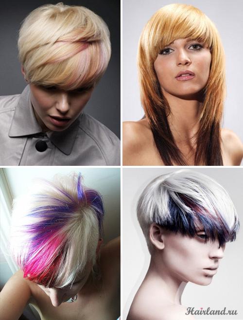 Колорирование кончиков светлых волос