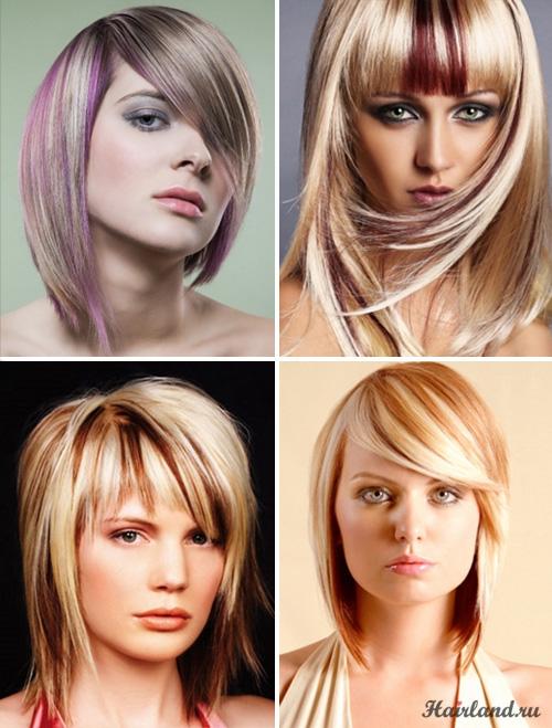 Колорирование светлых волос фото