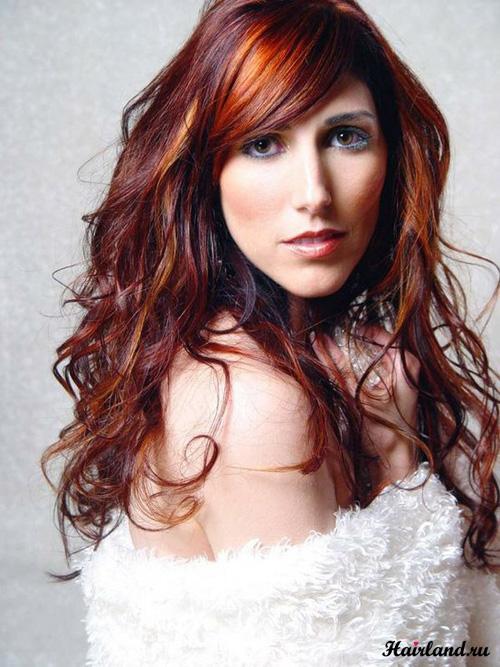 Колорирование красных волос фото
