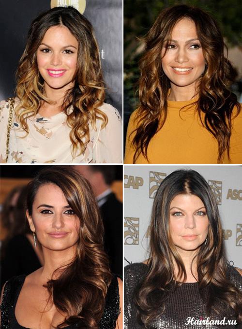 Красивое и модное мелирование на темные волосы 2012