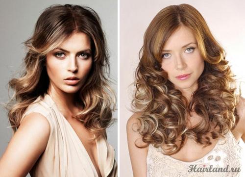 Мелирование нижней половины волос