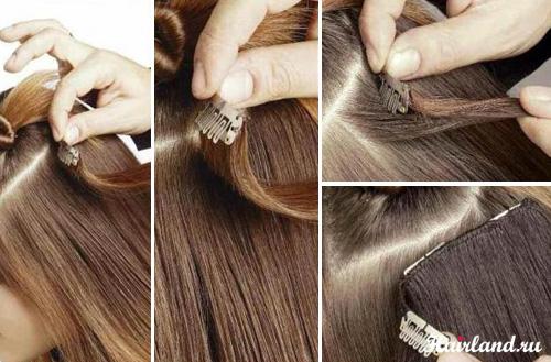 Как крепить накладные волосы фото