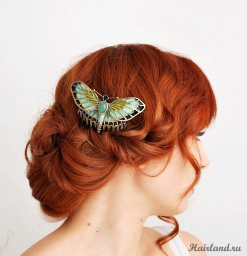 Огненный оттенок рыжего цвета волос фото