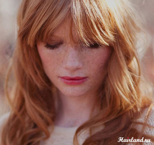 Светлые золотистые оттенки рыжего цвета волос фото