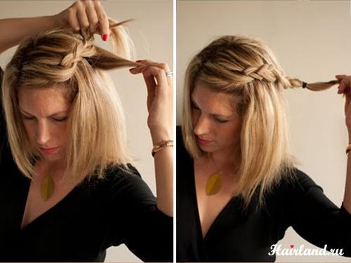 Плетение французских косичек по голове, поэтапное обучение в картинках.