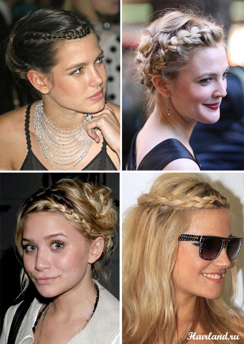 Повседневные прически с косами фото