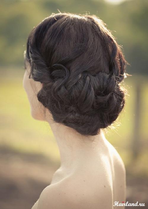 Прически вечерние на длинные волосы