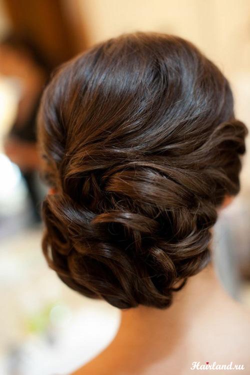 Собранные прически фото на средние волосы