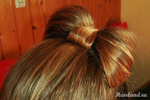 Бантики из своих волос