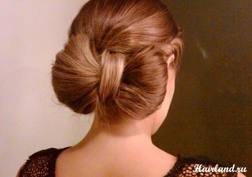 Прическа бант из волос фото