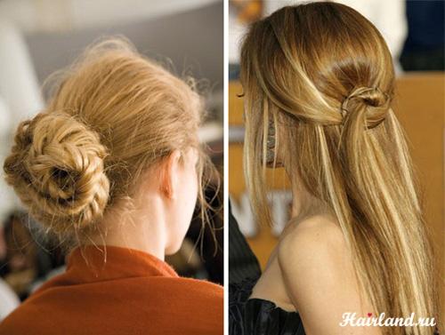Прически на длинные волосы на каждый день своими руками