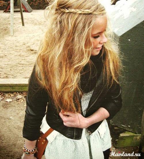 Прически для длинных волос на каждый день 2011