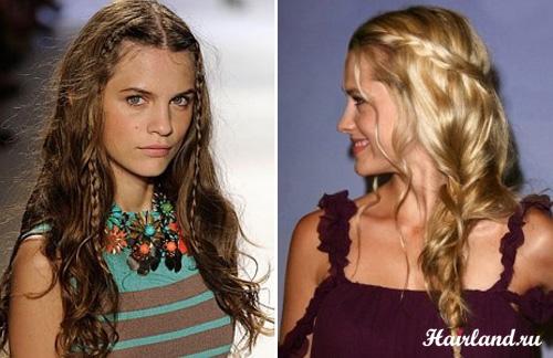 Прически для длинных волос на каждый день 2012