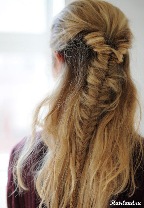 Прически из косичек на длинные волосы фото