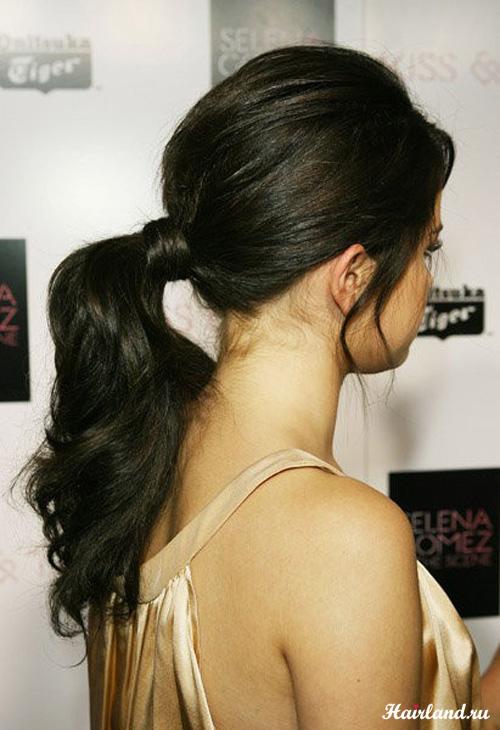 Красивый хвост, прически с длинными волосами