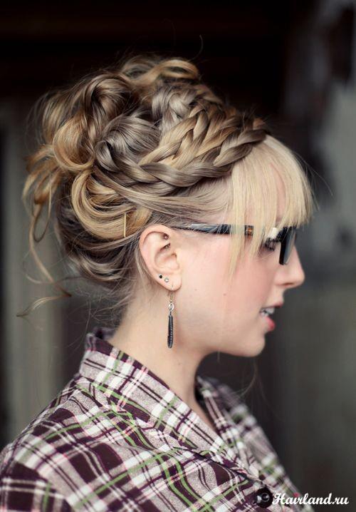 Прически с длинными волосами и косами