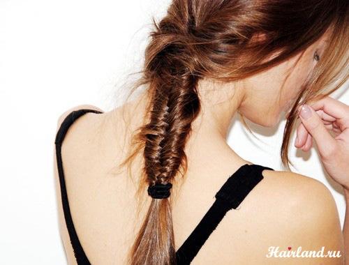 Прически с длинными волосами. Прическа рыбий хвост