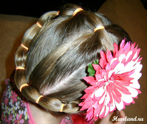 Прически на длинные волосы фото для девочек 5-7 лет