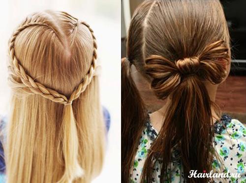 Прически на длинные волосы фото для маленьких девочек