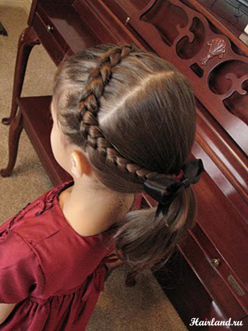 Фото детских причесок для девочек на праздник